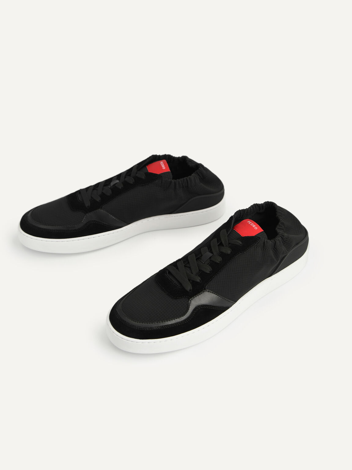 Suede Sneakers, Black, hi-res