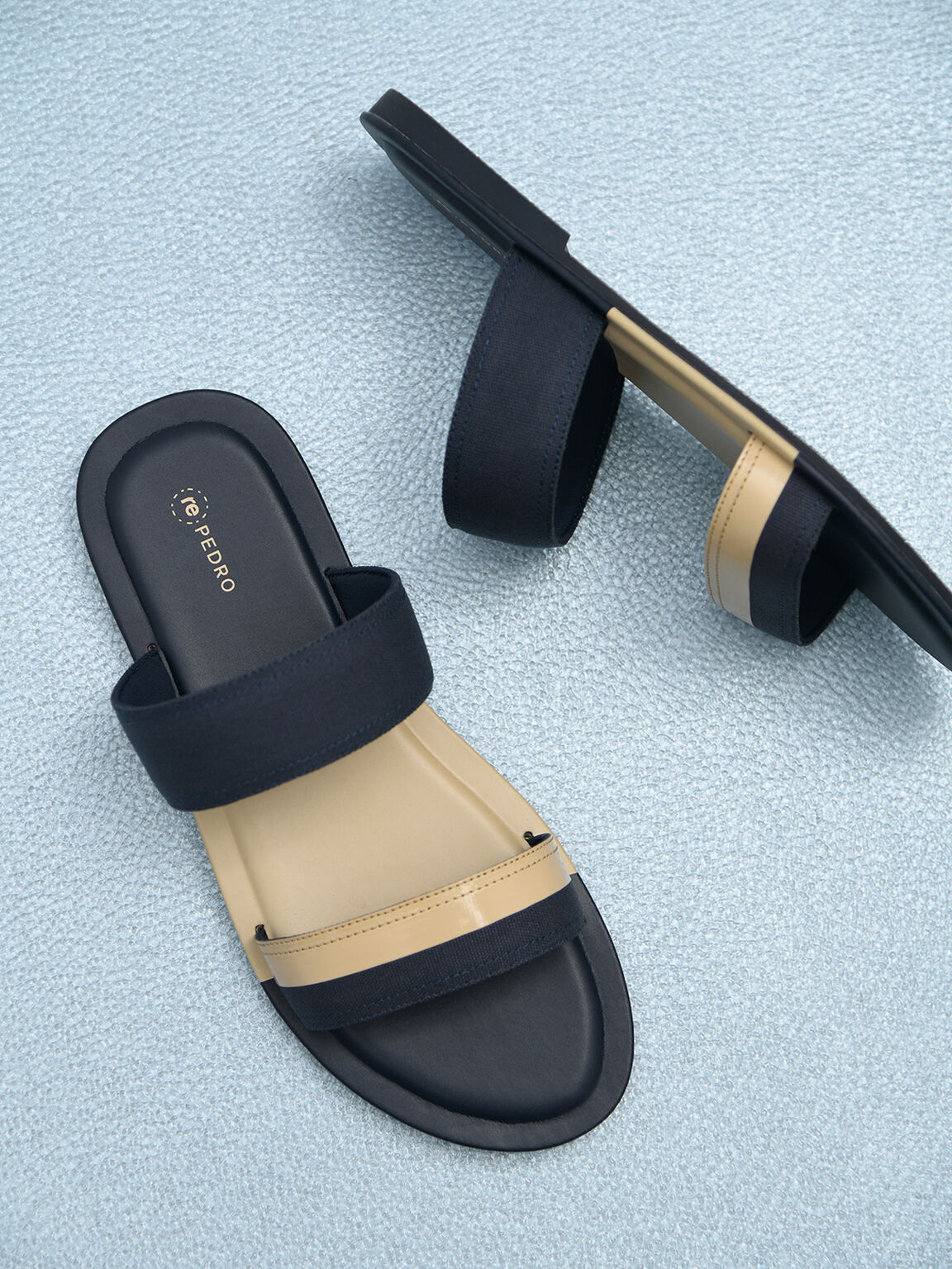 rePEDRO雙色涼鞋, 海军蓝色, hi-res