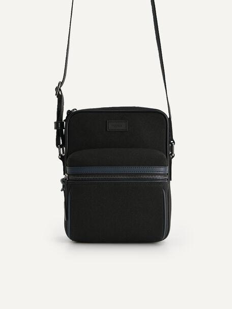 rePEDRO Organic Cotton Casual Sling Bag, Black, hi-res