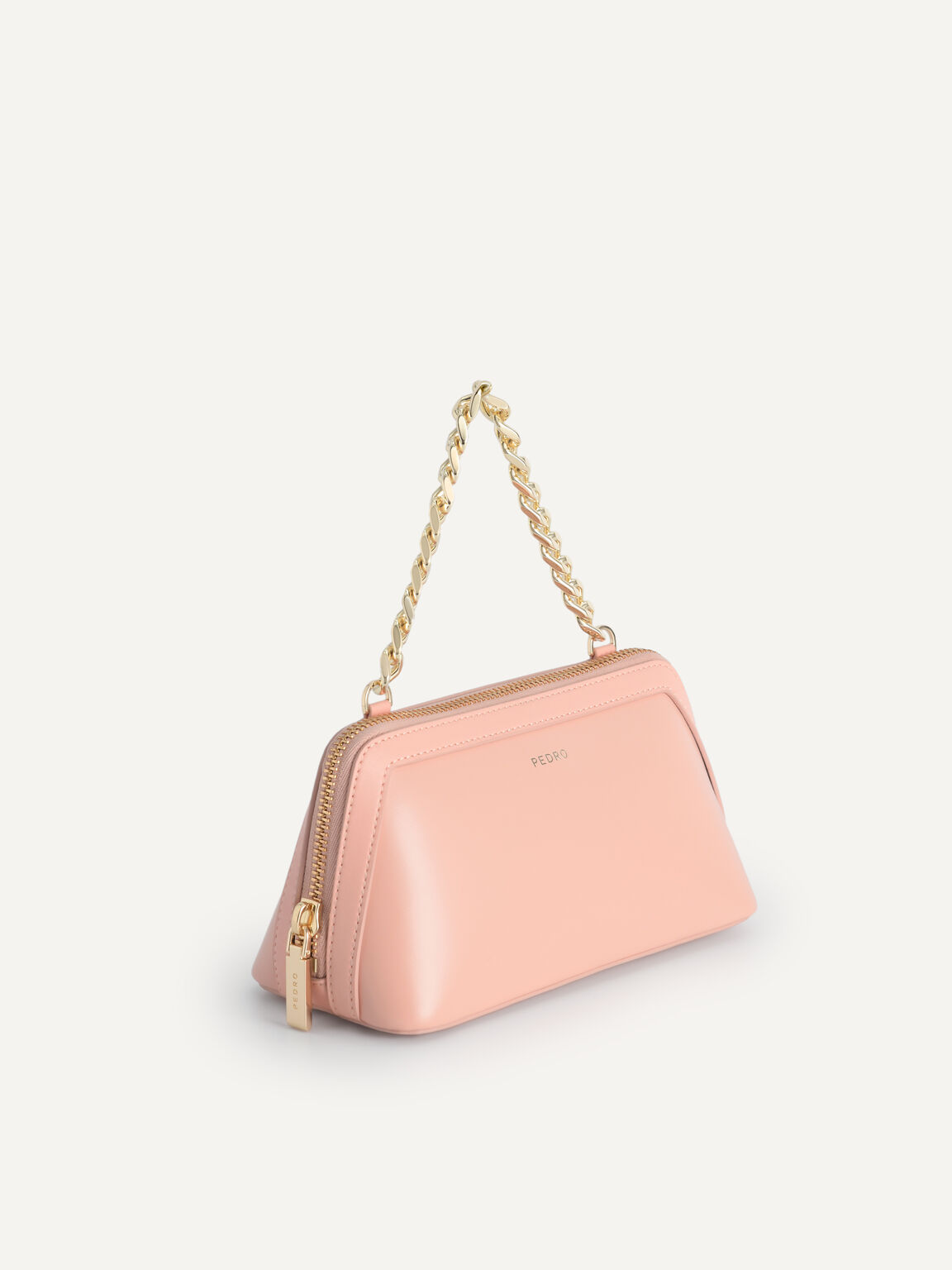 Leather Pouch, Blush, hi-res
