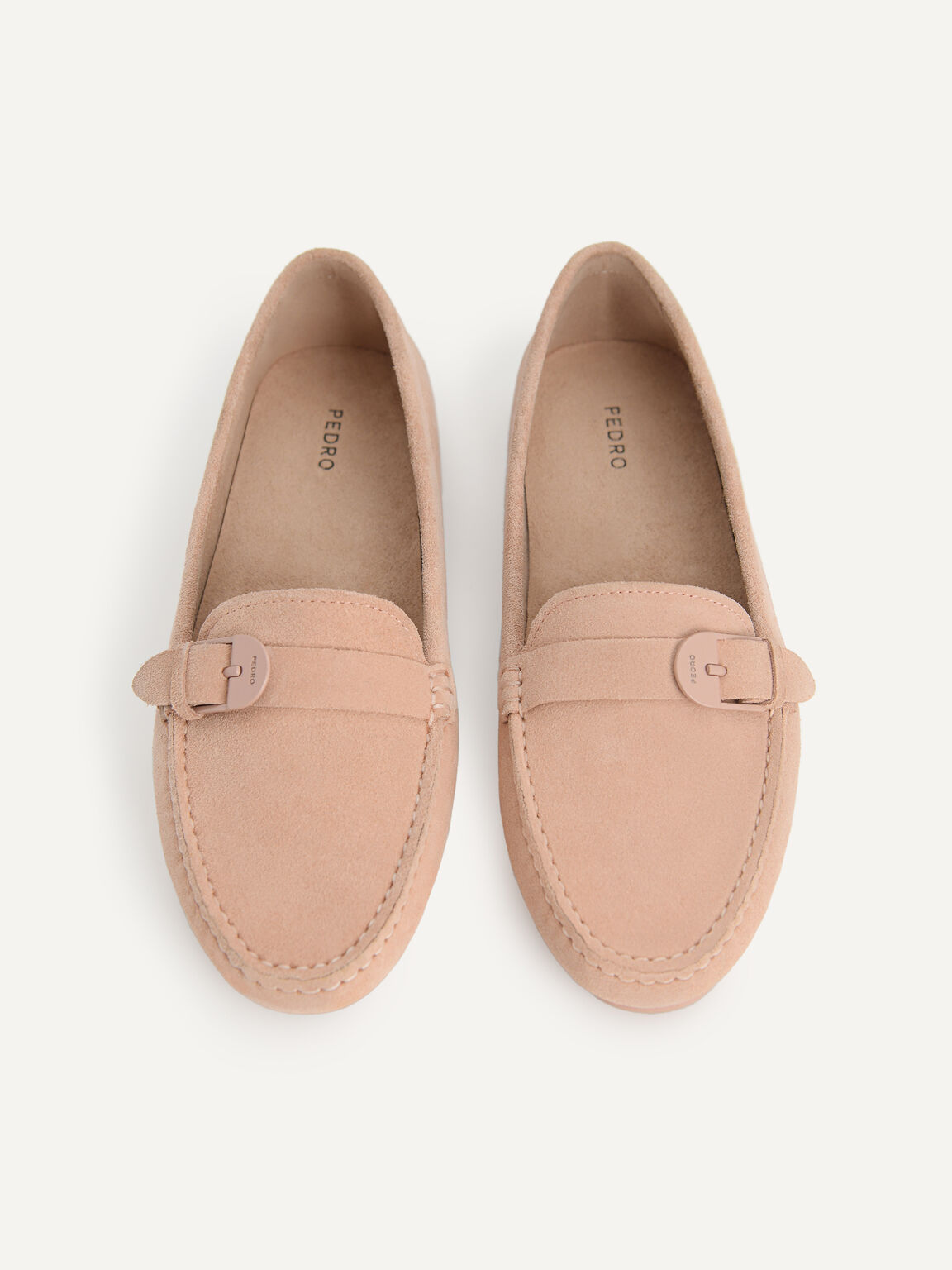 Leather Moccasins, Nude, hi-res