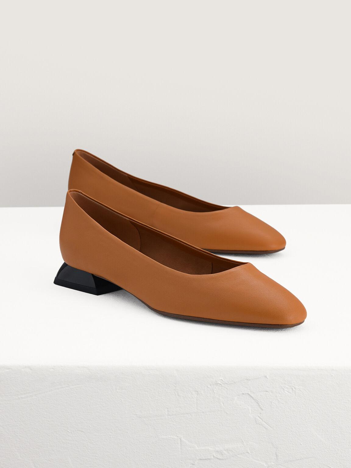 Leather Flats, Camel, hi-res