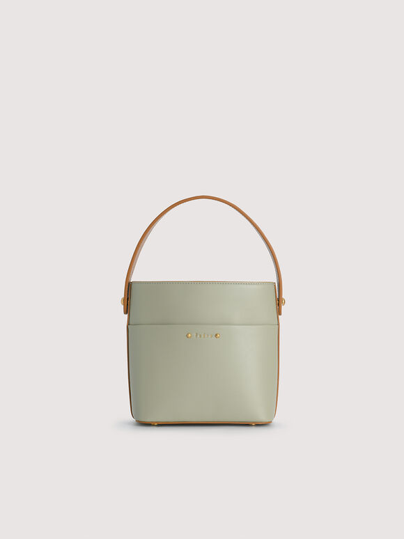 Drawstring Bucket Bag, Olive, hi-res