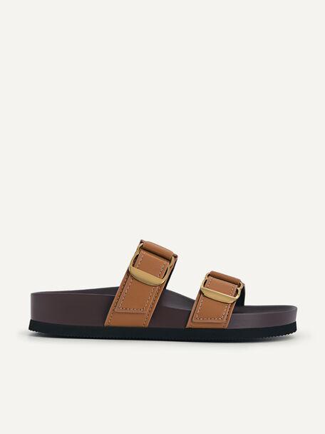 Double Strap Sandals, Camel, hi-res
